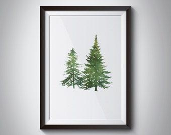 christmas tree christmas print, watercolor print, christmas decor, lds,christmas quote, inspirational decor, digital print, instant download