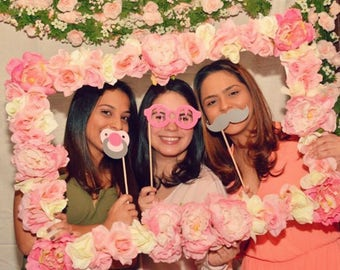 Flower Photo Booth Frame