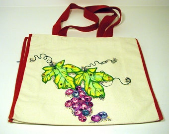 ANNIE BAG #11 - Hand-Painted Canvas Tote Bag by Annie Miller