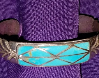 Turquoise and silver bracelet - 141