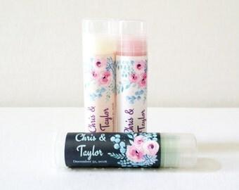 Lip Balm Favors 24ct - Bridal Shower Lip Balm Favors - Party Favors Chapstick - Personalized Favors (LB2003)