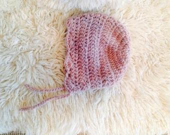 Light brown girls bonnet 24-36month