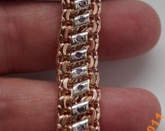 Bracelet with purple diamonds !!!