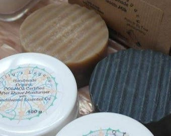 Goat's Milk Shaving Soap. 100% Natural, SL and Palm Free.  Essential Oils of Sandalwood , Patchouli or Tea Tree & Charcoal.