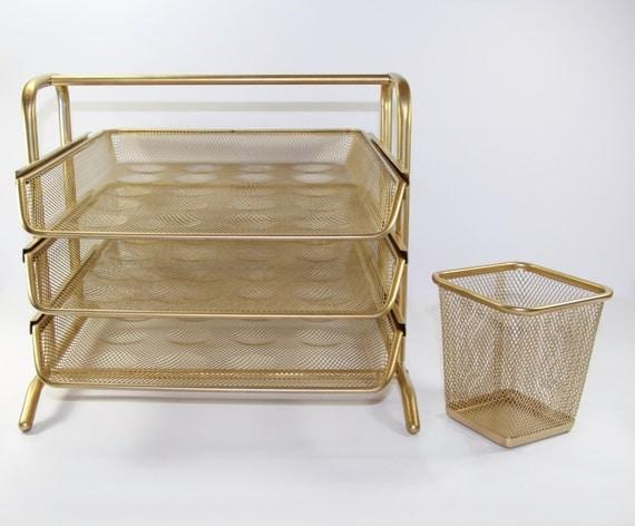 Gold desk organizer set - Desk set organizer ...