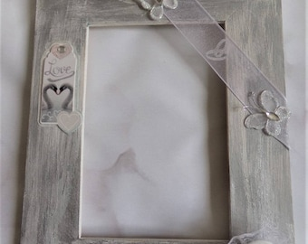 Very romantic shabby chic spirit photo frame