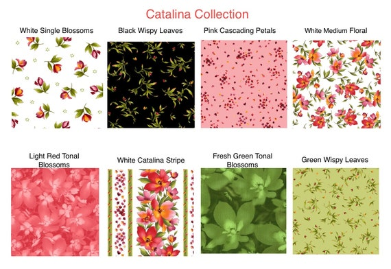 Fabric, Black Wispy Leaves, Catalina Collection by Marti ...
