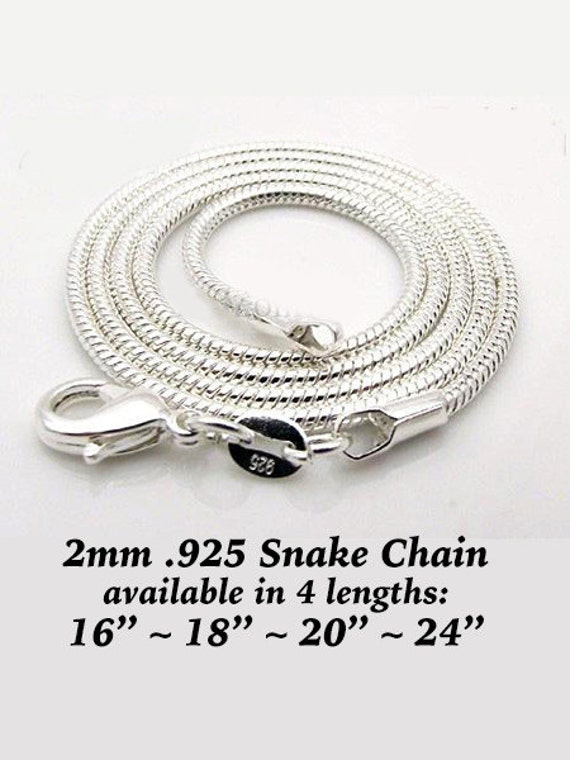 Snake Chain - Silver Plated, 4 lengths  **FREE U.S. SHIPPING**
