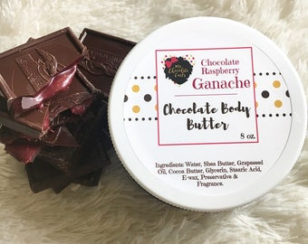 Chocolate Raspberry, chocolate butter, body butter, bath and beauty, skincare, moisturizer