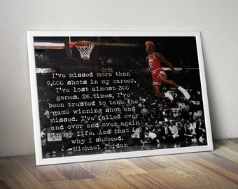 Michael Jordan Inspirational / Motivational Poster