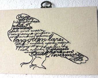 Wordy Bird Embroidered Wall Hanging