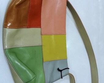 Vintage Chiarini Patchwork Leather Handbag Made in Argentina