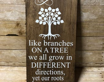 Our family tree sign| family sign| sign
