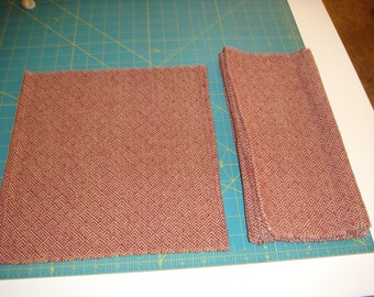 "Custom Handwoven Napkins, approx 18""x18"""