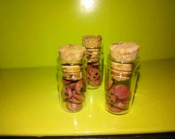 Bottle pendants with biscuits