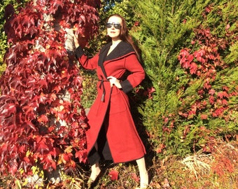 Double-sided coat winter wool thick, two coats in one