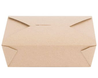 50 PCS 71 fl oz Kraft Microwavable Paper Take-Out Container, Take Out Boxes, Containers, Take Out Container, Eco-Friendly, Party, Wedding