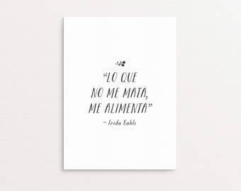 Frida Kahlo Quote Printable | Inspirational Gallery Wall Art Print, Mexican Spanish Quote Digital Download, Latinx