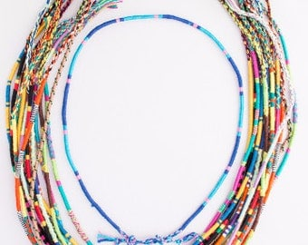 Threads of Hope Woven Thread Braided Necklace! Handmade & Colorful!