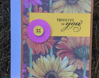 Blank Note Card - Thinking of You