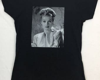 Lucille Ball Star Of I Love Lucy Portrait On A Ladies Soft Style Tee