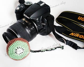 Lens cover for camera lens Photography Accessories Photographer Gifts camera lens cap lens cap leash photo accessories Fruit kiwi