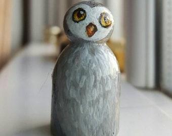 Peg doll Baby Owl