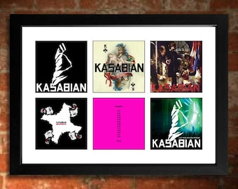 KASABIAN  Vinyl Albums Limited Edition Unframed Art Print Mini Poster