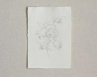 Botanical Print Illustration Handmade Paper