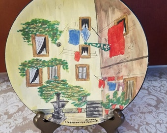 Hand Painted Gift Plate Made in Lisbon Portugal