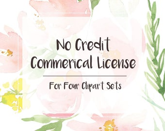 No Credit Commercial License - Bundle Bargain - 25% off!