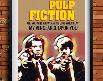 Pulp Fiction   Minimalist  poster 11 by 14