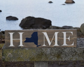 Home State Sign - New Home Sign - New Home Housewarming Gift - Home State Wall Art - New Home Decor - New Home Gifts