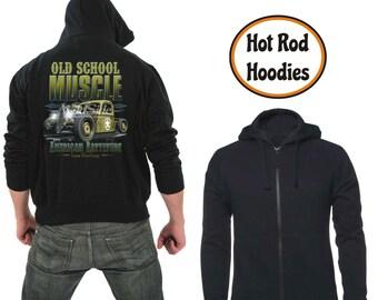 Zipper hoodie Old school muscle