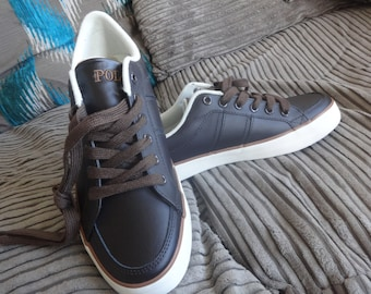 New Polo Ralph Lauren Bolingbrook Leather trainers UK 6