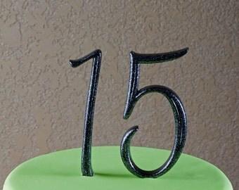 Monogram Number 15 Cake Topper by Elegant Cakery