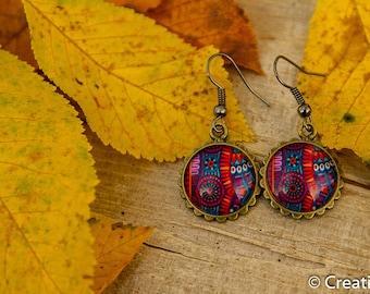 Resin Earrings in Blue, Purple, Red, Colorful, Nickelfree