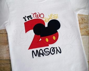 I'm Twodles - Birthday shirt - mouse birthday - boy birthday - baby boy birthday - first birthday - second birthday - toddler birthday
