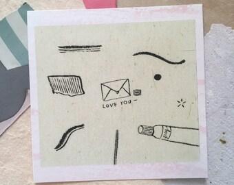 Love You Postcard / Print