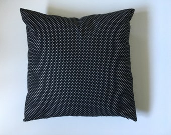 Black Spotted Cushion 40cmx40cm, Cotton