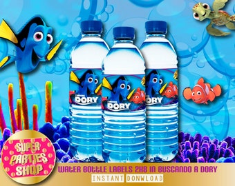 Finding Dory Printable Party Water Bottle Labels, Custom Party, Finding Nemo,Birthday
