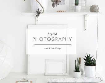 Styled Mockup Photography - Art and Plants, Workspace, Desk Frames