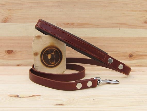 Brown Leather Dog Leash, Simple Dog Leash, Custom Lenght and Width, Handmade Dog Lead, Strong Dog Leash, Walking Leash, Custom Leather Lead