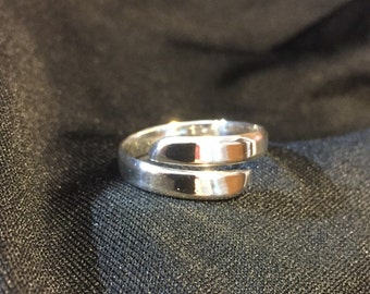 Sterling silver wraparound ring size 9