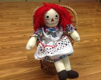 Handmade Raggidy Anne style doll