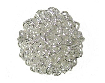 Silver Wire Beads x 10