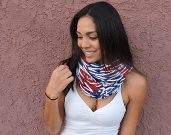 Devin's Hand Knit Infinity Scarf