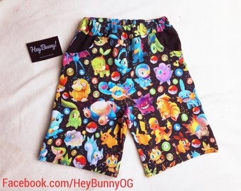 Pokemon Shorts : Sizes 0000-7