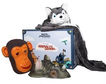 KIT ANIMALS WILD-costumes of animals wild (2 adults + 1 child)