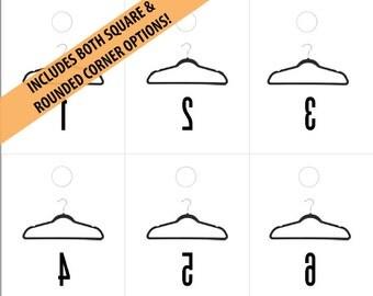 LLR Black Velvet Hanger Reverse Numbers 1-500 | Inventory Live Sales Tags | Forward for Consultants | Facebook PopUp Sale | Printable